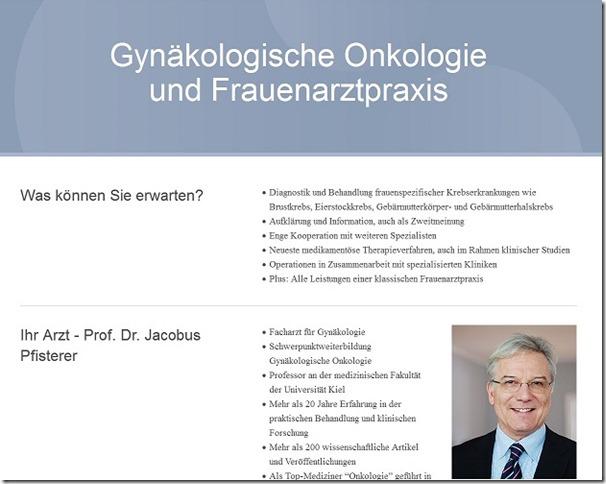 Jacobus Pfisterer Webseite Presse