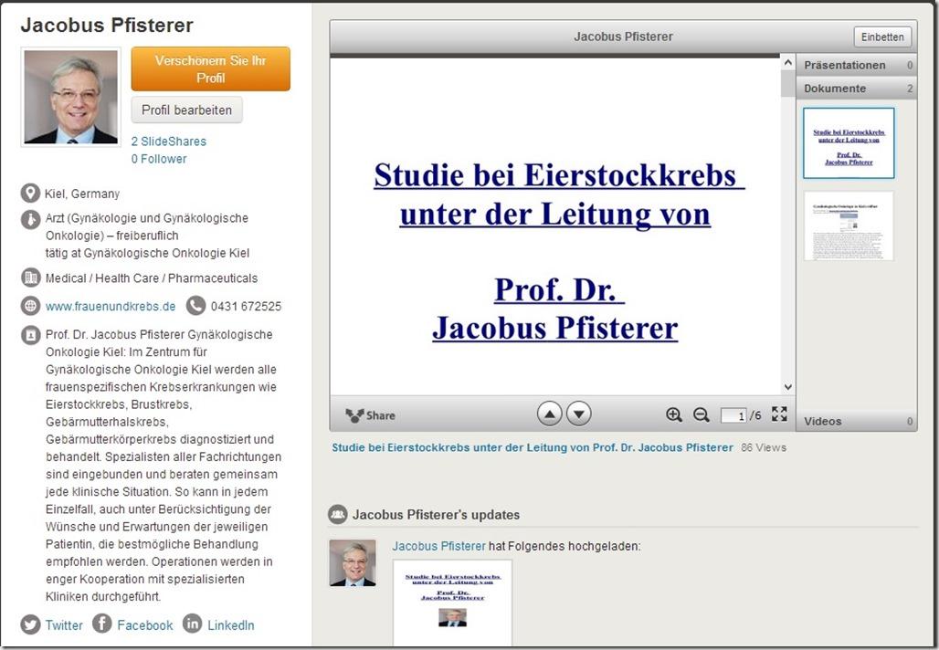 Jacobus Pfisterer auf slideshare