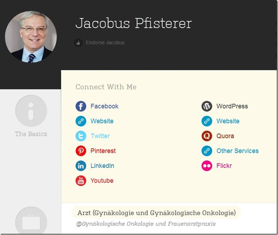 Jacobus Pfisterer auf zerply