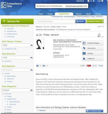 Dr. Peter Jänsch Competence Site
