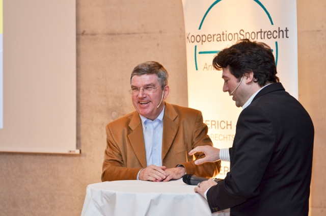 Dr. Thomas Bach auf dem Stuttgarter Sportgespräch