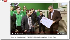 PSV GW Hildesheim bekommt 15000 Euro