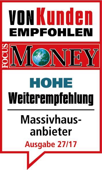 Focus Money zeichnet Heinz von Heiden erneut mit dem Vertrauenssiegel Hohe Weiterempfehlung aus